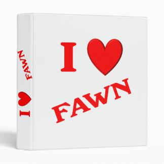 I Love Fawn Binder