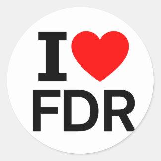 I Love FDR Classic Round Sticker