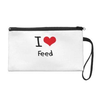 I Love Feed Wristlet Purse