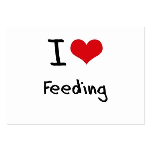 I Love Feeding Business Card Template