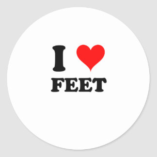I Love Feet Classic Round Sticker