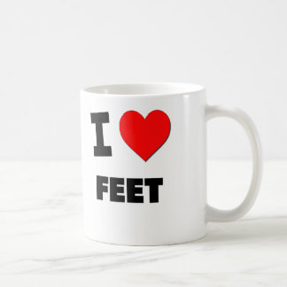 I Love Feet Coffee Mug