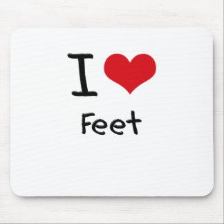 I Love Feet Mouse Pad