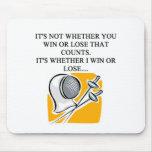 i love fencing fencer design mouse pad