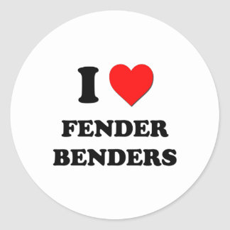 I Love Fender Benders Round Sticker