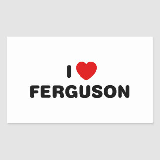 I Love Ferguson Missouri Sticker