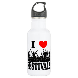 I Love festivals (blk) 532 Ml Water Bottle