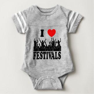 I Love festivals (blk) Baby Bodysuit