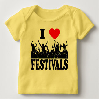 I Love festivals (blk) Baby T-Shirt