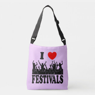 I Love festivals (blk) Crossbody Bag