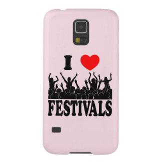 I Love festivals (blk) Galaxy S5 Case