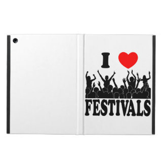 I Love festivals (blk) iPad Air Case