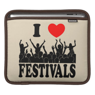 I Love festivals (blk) iPad Sleeve