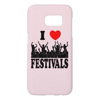 I Love festivals (blk) Samsung Galaxy S7 Case
