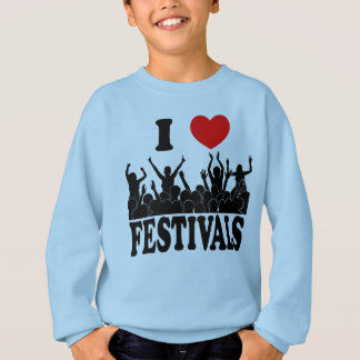 I Love festivals (blk) Sweatshirt