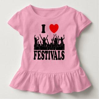 I Love festivals (blk) Toddler T-shirt