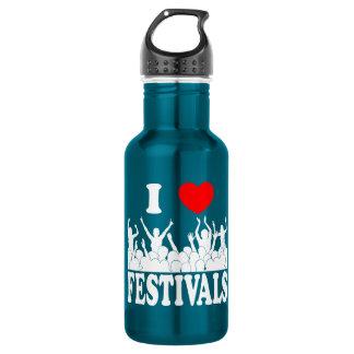 I Love festivals (wht) 532 Ml Water Bottle
