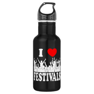 I Love festivals (wht) 532 Ml Water Bottle