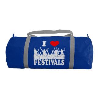 I Love festivals (wht) Gym Bag