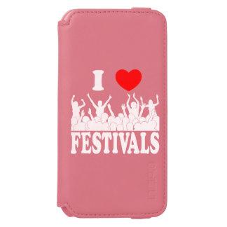 I Love festivals (wht) Incipio Watson™ iPhone 6 Wallet Case
