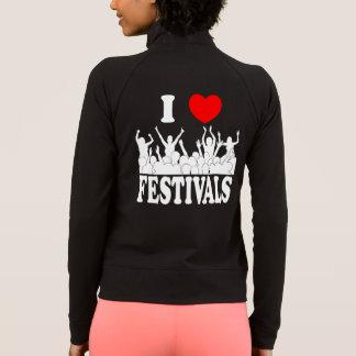 I Love festivals (wht) Jacket
