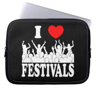 I Love festivals (wht) Laptop Sleeve