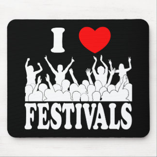 I Love festivals (wht) Mouse Pad