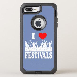 I Love festivals (wht) OtterBox Defender iPhone 8 Plus/7 Plus Case