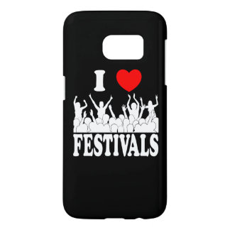 I Love festivals (wht) Samsung Galaxy S7 Case