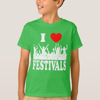 I Love festivals (wht) T-Shirt