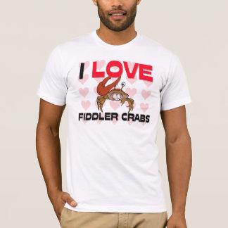 I Love Fiddler Crabs T-Shirt