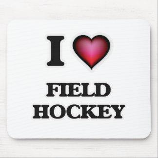 I Love Field Hockey Mouse Pad