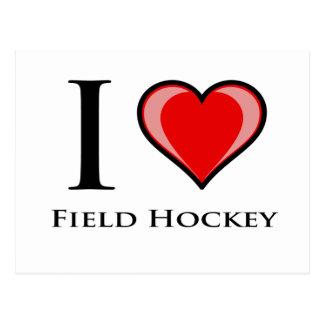 I Love Field Hockey Postcard