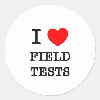 I Love Field Tests Classic Round Sticker