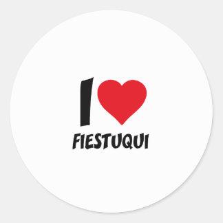 I love fiestuqui classic round sticker
