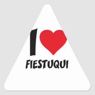 I love fiestuqui triangle sticker
