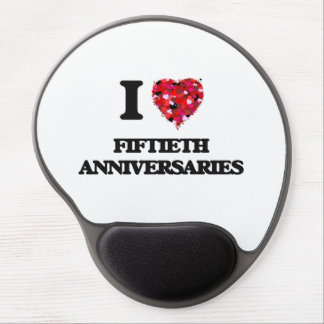 I Love Fiftieth Anniversaries Gel Mouse Pad