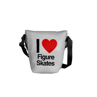 i love figure skates commuter bags