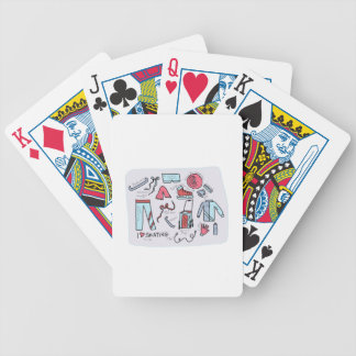 I Love Figure Skating Bicycle Playing Cards