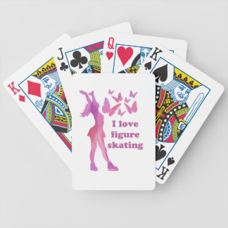 I Love Figure Skating Giftware Bicycle Playing Cards