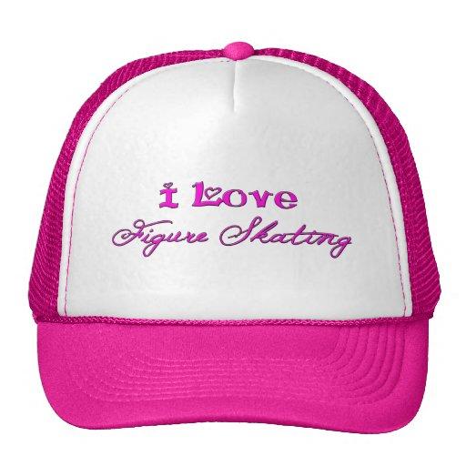 I love figure skating hot pink hat