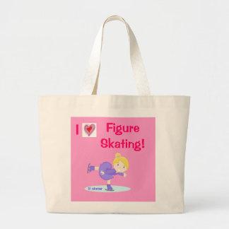 I love Figure Skating! jumbo tote bag