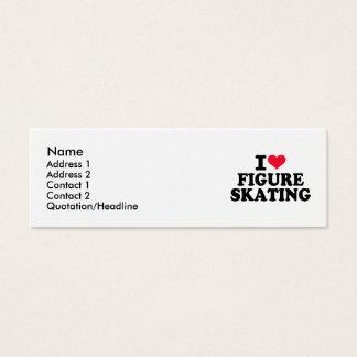 I love Figure Skating Mini Business Card