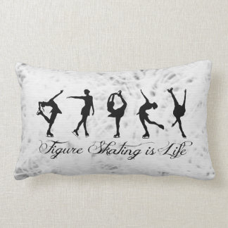 I Love Figure Skating on ice (name on back) Lumbar Pillow