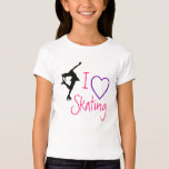 I love Figure Skating - purple heart T-Shirt