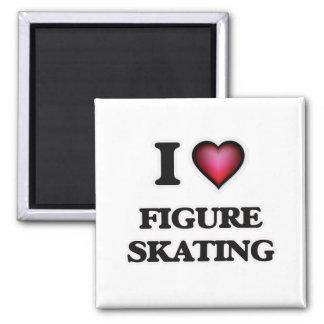 I love Figure Skating Square Magnet