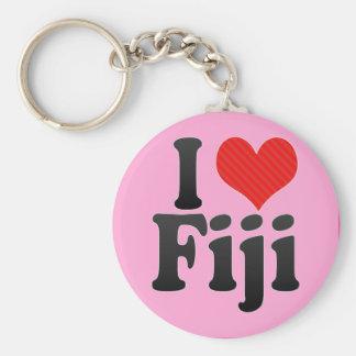 I Love Fiji Keychain