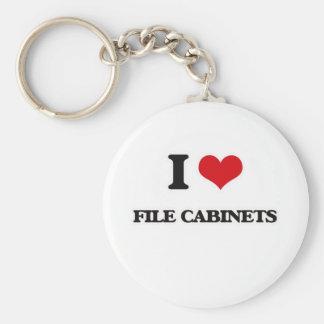 I Love File Cabinets Keychain