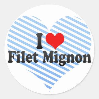 I Love Filet Mignon Classic Round Sticker