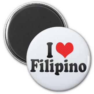 I Love Filipino Refrigerator Magnets